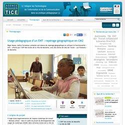 Usage pédagogique d'un ENT : repérage géographique en CM2