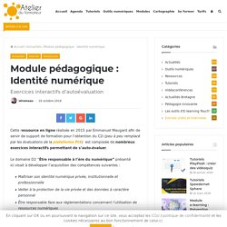 Module pédagogique : Identité numérique