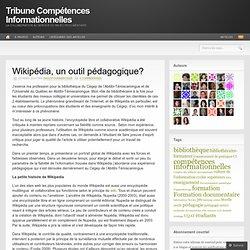 Wikipédia, un outil pédagogique?