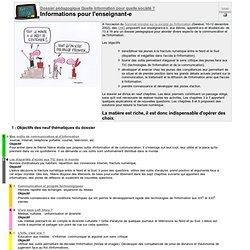 Dossier pédagogique : Informations pour l'enseignant