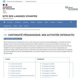 Continuité pédagogique: Des activités interactives pour du travail à distance