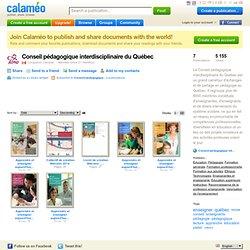 Conseil pédagogique interdisciplinaire du Québec on Calaméo