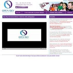 Extrait vidéo pédagogique d'Open Sky International Pre and Primary Bilingual School