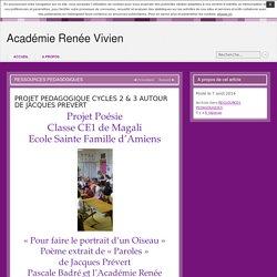PROJET PEDAGOGIQUE CYCLES 2 & 3 AUTOUR DE JACQUES PREVERT