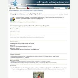 maîtrise de la langue française - le langage en maternelle avec le logiciel photorécit
