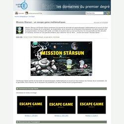 Espace pédagogique - Mission Starsun : un escape game mathématiques