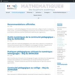 Site pédagogique de Mathématiques