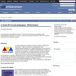 Le Guide 2011 du web pédagogique : Mathématiques