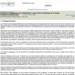 Confluence pédagogique des médiathèques: apport dans la didactique de la langue française au second cycle. - Georges William DJAMEN NOUKOUE