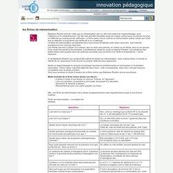innovation pédagogique - les fiches de mémorisation