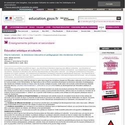 Charte nationale : la dimension éducative et pédagogique des résidences d'artistes - MENE1003709C