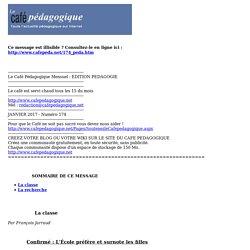 Le Café Pédagogique Mensuel - EDITION PEDAGOGIE
