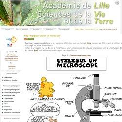 """lBD pédagogique """"Utiliser un microscope"""""""