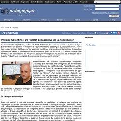 Philippe Cosentino : De l'intérêt pédagogique de la modélisation