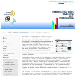 limportant.fr : curation par les réseaux sociaux - Site pédagogique du CLEMI, Académie de Montpellier