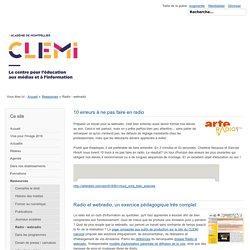 Radio - webradio - Site pédagogique du CLEMI, Académie de Montpellier