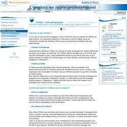 Twitter: outil pédagogique - Anglais LP - Pédagogie - Académie