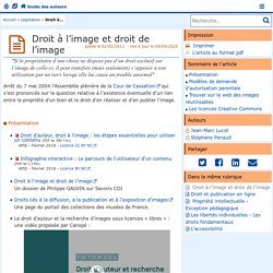 Droit à l'image et droit de l'image- Guide des auteurs du web pédagogique
