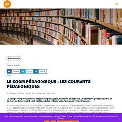 Le zoom pédagogique : Les courants pédagogiques - Projet PARI - Lab 3E