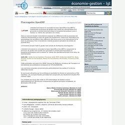 économie-gestion - LGT - Pharmagedon OpenERP