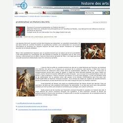 histoire des arts - problématiser en Histoire des Arts