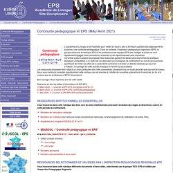 Continuité pédagogique et EPS - Site des professeurs d'EPS du Limousin