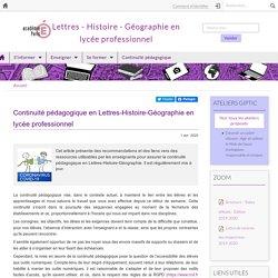 Académie de Paris - Continuité Lettres-Histoire-Géographie en lycée professionnel