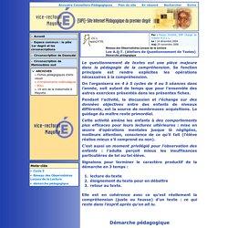 [Site Internet Pédagogique du premier degré de Mayotte - SIP1] Les A.Q.T. (Ateliers de Questionnement de Textes)