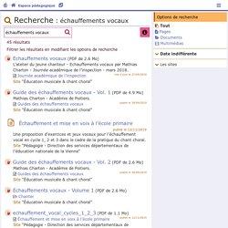 Espace pédagogique - Recherche - Académie de Poitiers
