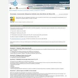 espagnol - Aconsejar, recomendar (Séquence réalisée avec des élèves de 3ème LV2)