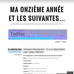 Scénario pédagogique: «et si la Renaissance avait connu Twitter?