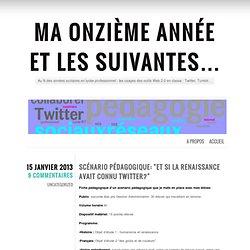 """Scénario pédagogique: """"et si la Renaissance avait connu Twitter?"""""""