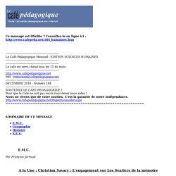 Le Café Pédagogique Mensuel - EDITION SCIENCES HUMAINES