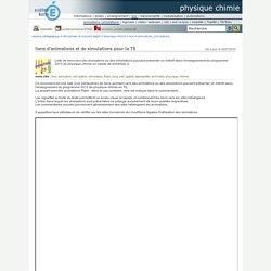 liens d'animations et de simulations pour la TS