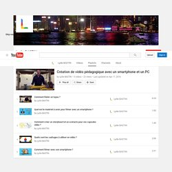 Création de vidéo pédagogique avec un smartphone et un PC