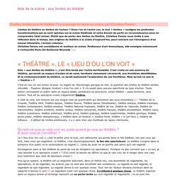 Dossier pédagogique / Les spectacles vivants au Centre Pompidou