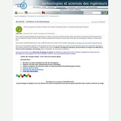 technologies et sciences des ingénieurs - Scratch2 : initiation à la domotique