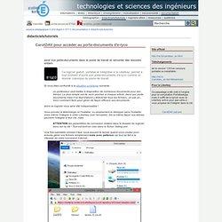 CarotDAV : pour accéder au porte-documents d'e-lyco