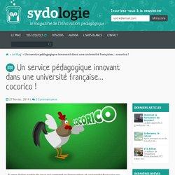 Un service pédagogique innovant dans une université française… cocorico