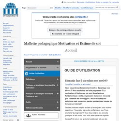 Mallette pedagogique Motivation et Estime de soi — Wikiversité
