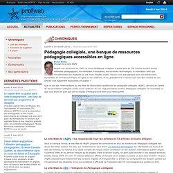 Pédagogie collégiale, une banque de ressources pédagogiques accessibles en ligne