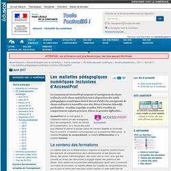 Les mallettes pédagogiques numériques inclusives d'AccessiProf