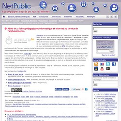 Alpha-tic : fiches pédagogiques informatique et internet au service de l'alphabétisation