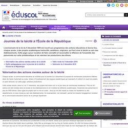 Laïcité : principe et pédagogie - Outils pédagogiques pour le 9 décembre 2015 : 110e anniversaire de la loi de 1905