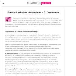 Concept & principes pédagogiques – 7 : l'apprenance
