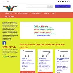 Éditions Mémorius boutique : Jeux,cahiers,livres pédagogiques d'apprentissage et de mémorisation