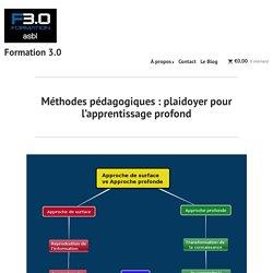 Méthodes pédagogiques : plaidoyer pour l'apprentissage profond – Formation 3.0