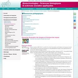 Ressources pédagogiques - Biotechnologies - Sciences biologiques<br>& sciences sociales appliquées