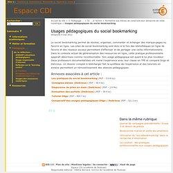 Usages pédagogiques du social bookmarking