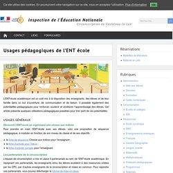 Usages pédagogiques de l'ENT école – Circonscription de Castelnau-le-Lez